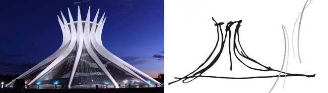 Oscar Niemeyer sketches